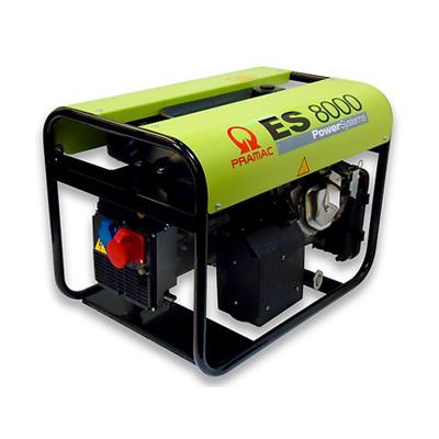 7 kVA Pramac Portable Petrol Generator - Honda ES8000 AVR Genset