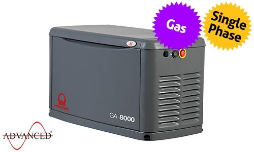 8 kVA Pramac Standby Residential LPG Gas Generator - Pramac GA8000