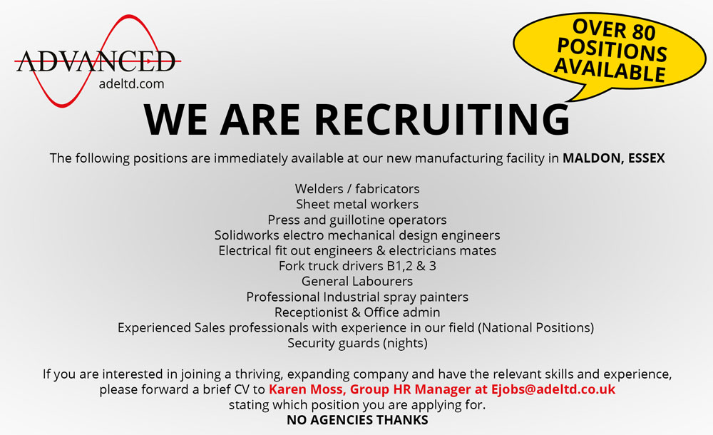 WE ARE RECRUITING - OVER 80 POSITIONS AVAILABLE