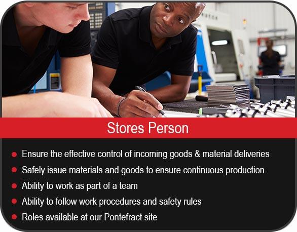 Stores Person Vacancies