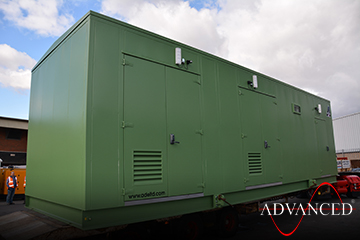 11 Metre long switchgear enclosed