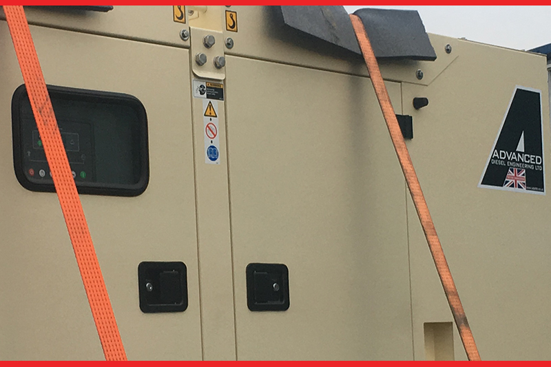 Close up of an agricultural diesel generator