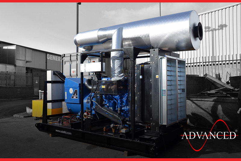 open diesel generator set ready for dispatch