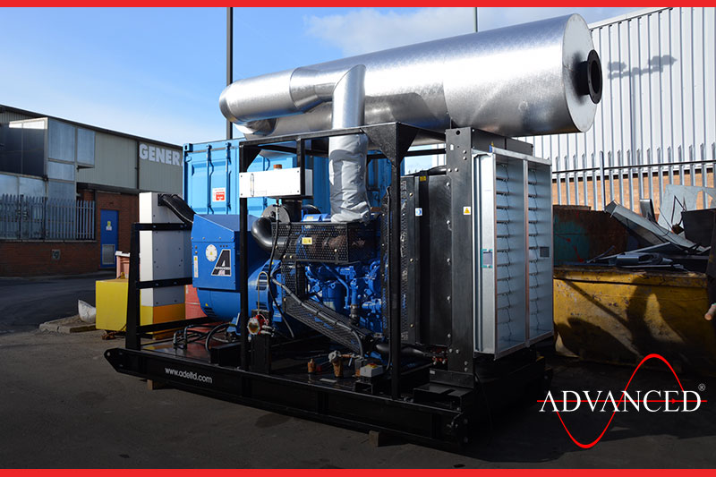 Open Diesel Generator set in the yard ready for dispatch