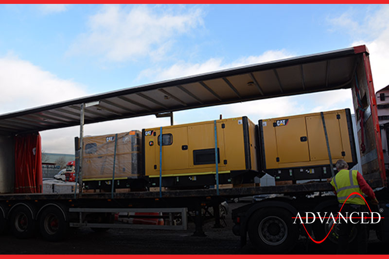 gensets heading to a hospital