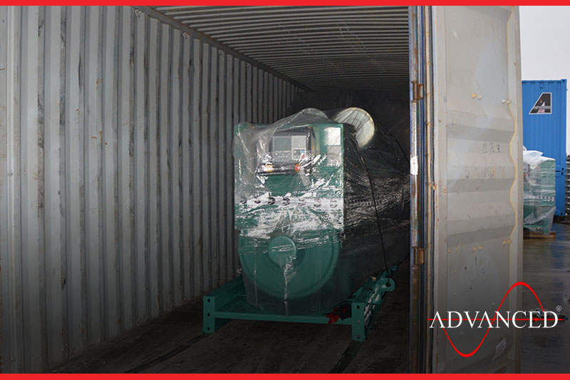 diesel generator inside container for freight