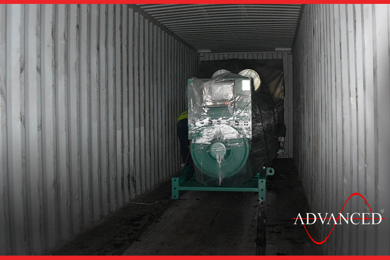 container with gensets inside