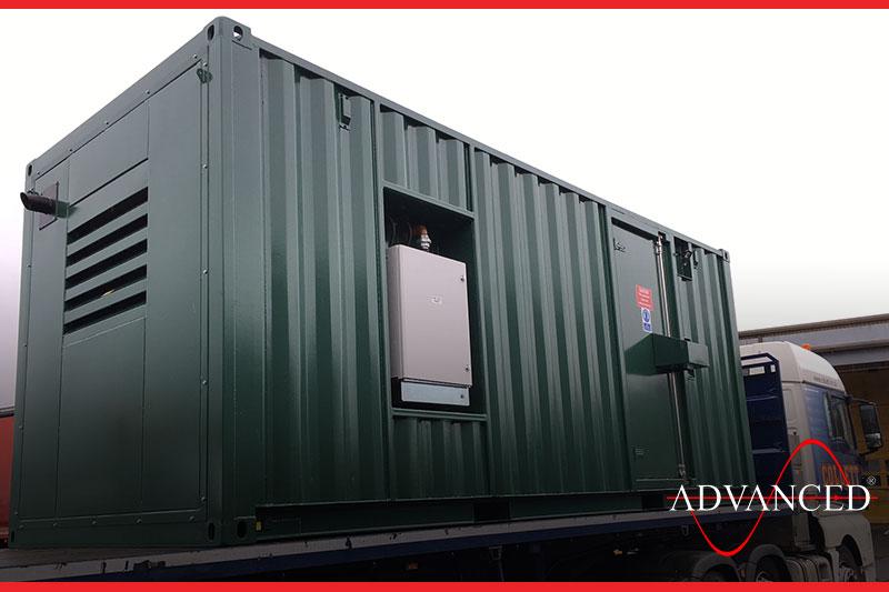 generator in sound proof building