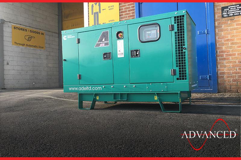 C22D5 Diesel Genset waiting outside