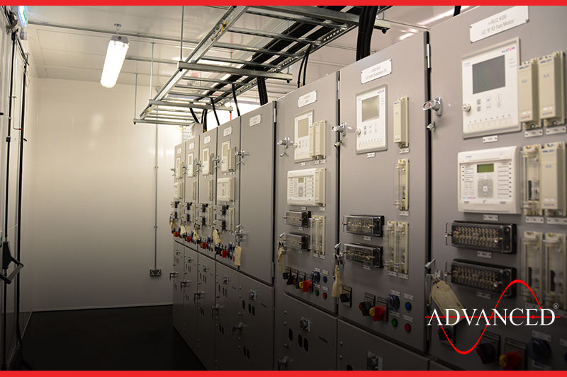 Switchgear inside Modular Building