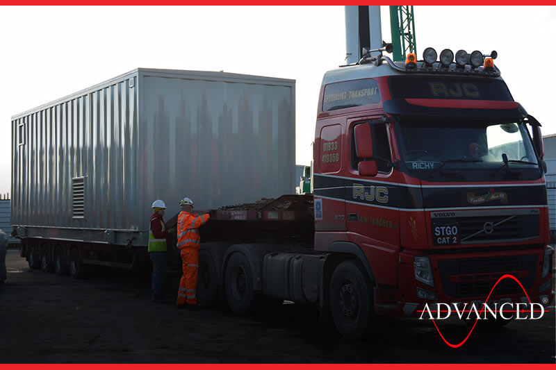 Switchgear Loaded and leaving