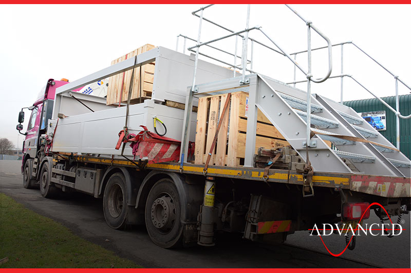 Switchgear leaving on the road