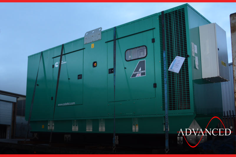 cummins generator loaded on the truck