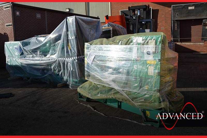 Genset being delivered to africa