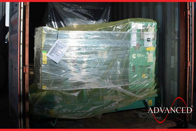 A cummins diesel generator is packed and ready to deliver to africa