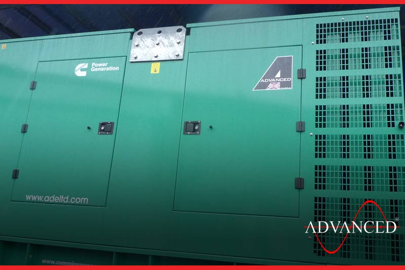 closed diesel generators on a lorry