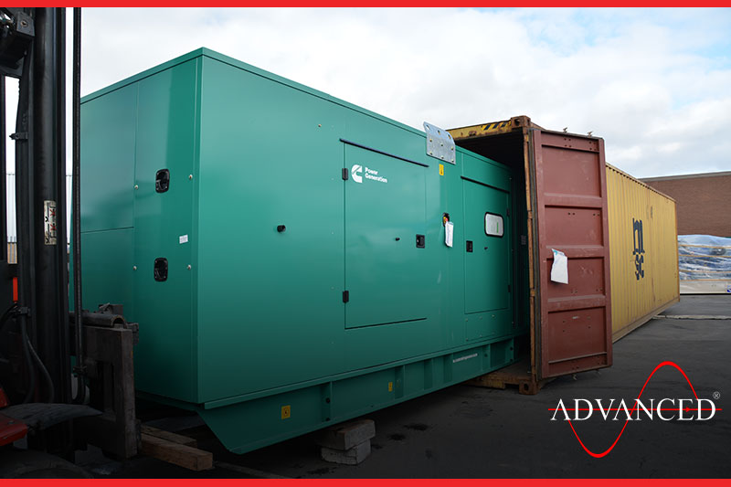 standby diesel generator in a container