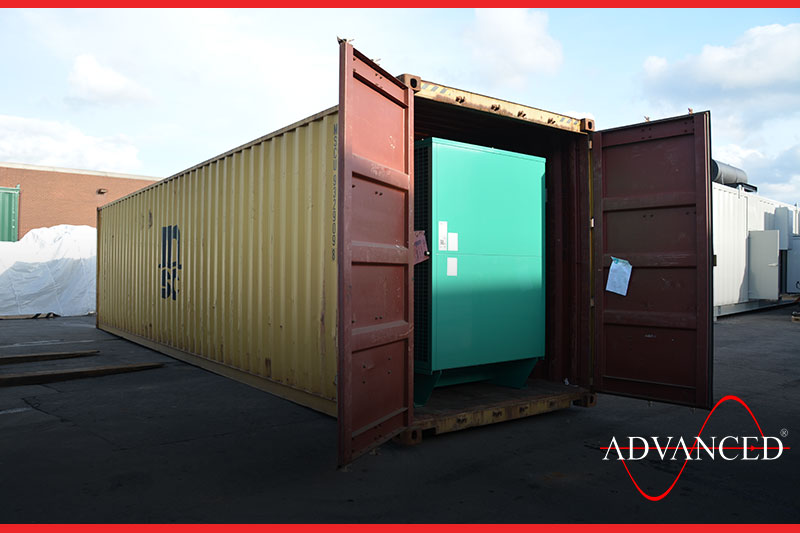 diesel generator inside a container