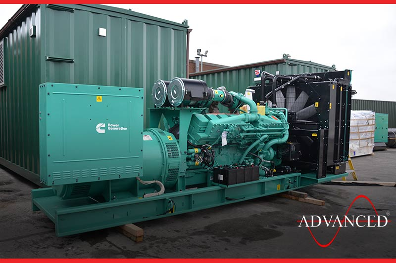 cummins diesel generator ready to leave the yard