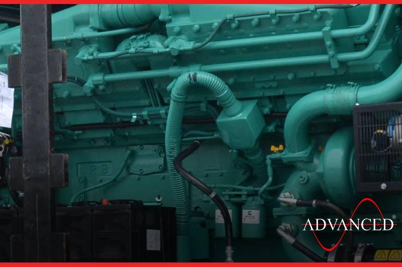 open diesel generator close-up