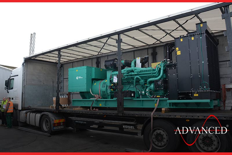 open cummins diesel generators on a lorry