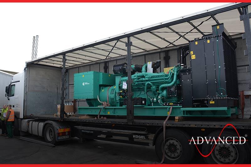 open cummins diesel generators on a lorry