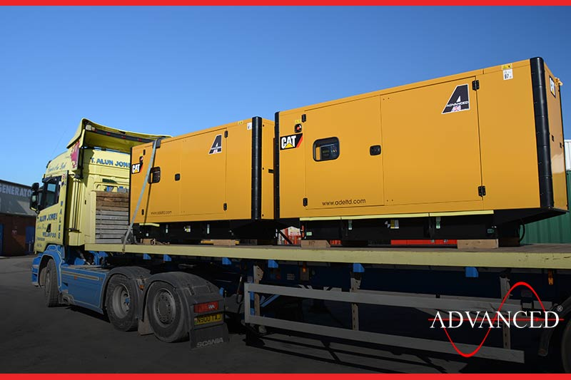 This caterpillar gen-set is on-route to the client
