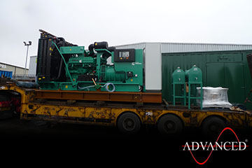 3xc1100d5CumminsDieselGenerator Leaving