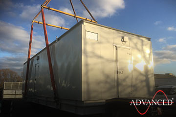 Kit form acoustic enclosure for a diesel generator