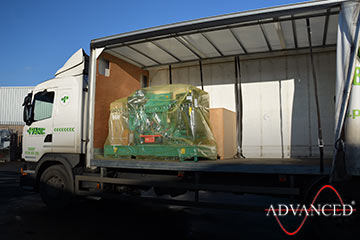 diesel generator ready to go to Norway