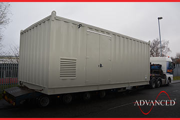 modular housing on truck