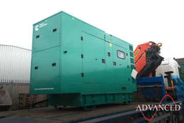 Genset on route to stables