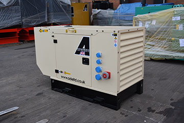Perkins 22kva silent unit with sockets