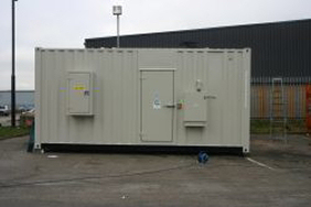 20 foot container side view