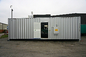 side view of a 30 foot container