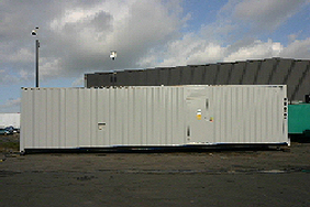 side view of a 40 foot container