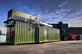 natural gas generator in a 40 foot shipping container