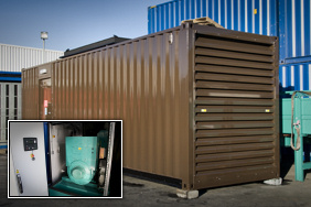 brown thirty foot container