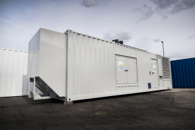 40 foot generator container with extra attenuation