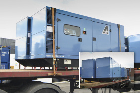 Four 165kVA generators on a lorry