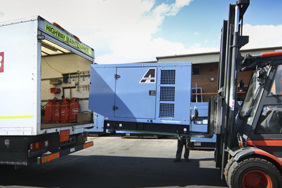 66kva generator loaded on a flat back lorry