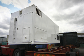 refurbished white generator container