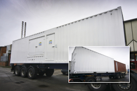 exported 1400kVA generator with fuel tank