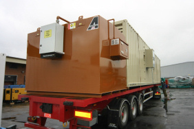 40 foot generator and fuel tank for morrisons stores