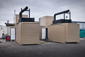 two 1400kva cummins generators in containers