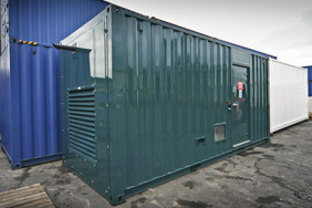 Twenty foot generator container