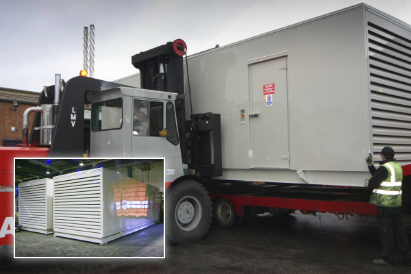 2 x 800kVA generators for Gatwick Airport