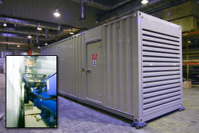 Standby generator for a hospital