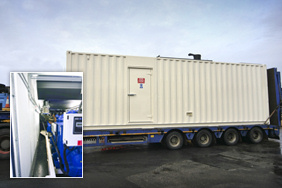 Containerised generator supplied to Sainsburys for standby power application