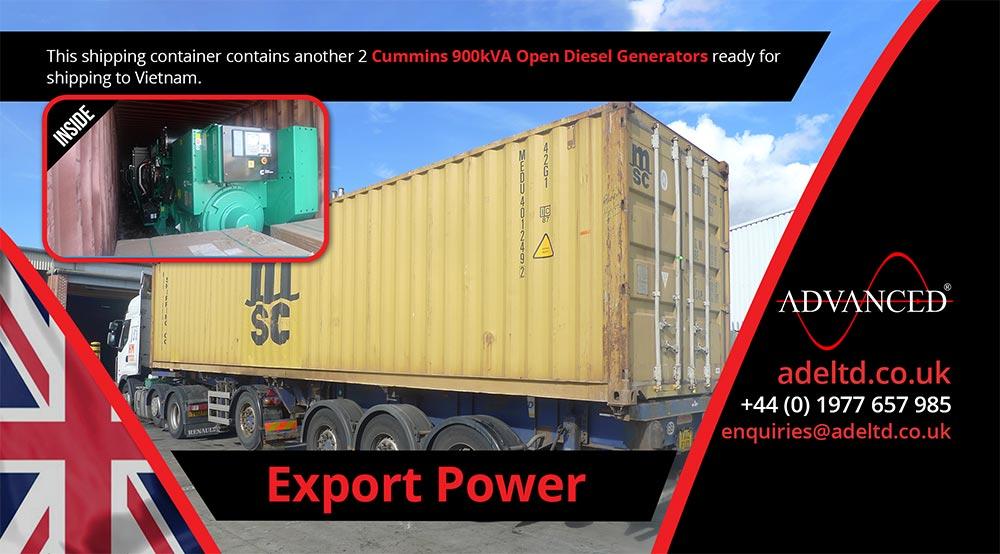 900kVA Cummins Open Diesel Generators for Export to Vietnam